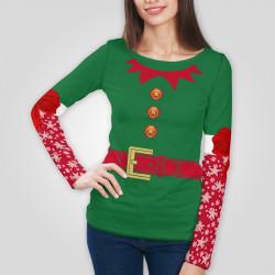 3D дамска блуза с дълъг ръкав 7545