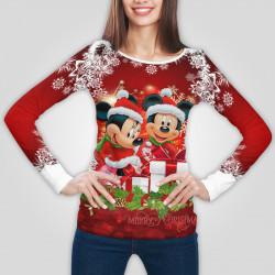 3D дамска блуза с дълъг ръкав 7549