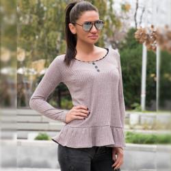 Дамска блуза в розов цвят / рипс /