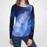 3D българска дамска блуза с дълъг ръкав 7241