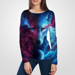 3D дамска блуза с дълъг ръкав 7240