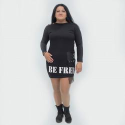 Стилна дамска туника с голо рамо Be Free в макси размери