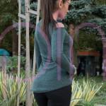 Дамска туника с дълъг ръкав в маслинов цвят