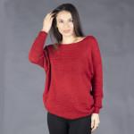 Мек и топъл  дамски пуловер с кашмирена мекота в червено