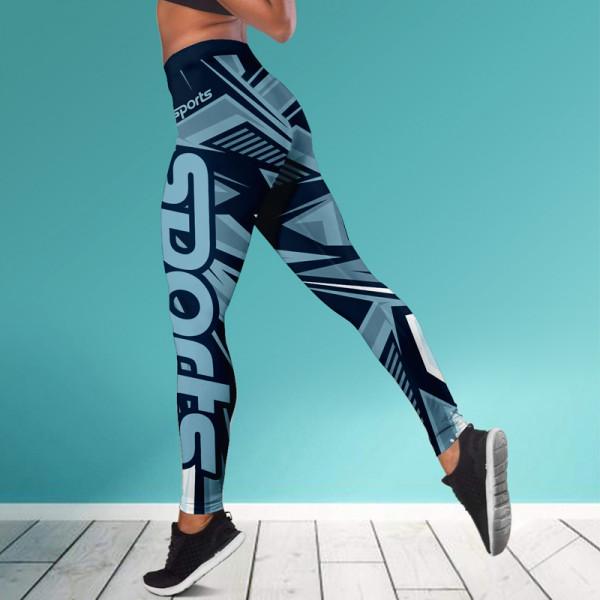 Дамски спортен клин - стягащ и повдигащ ефект ''SPORTS BLUE''