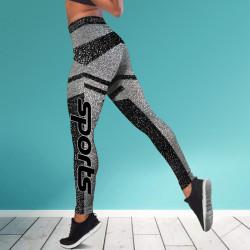 Дамски спортен клин - стягащ и повдигащ ефект ''SPORTS GRAFIT&BLACK''