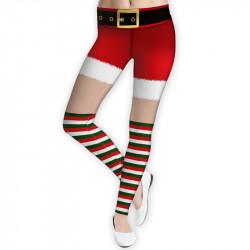 Дамски спортен клин - стягащ и повдигащ ефект CHRISTMAS SHORTS