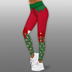 Дамски спортен клин - стягащ и повдигащ ефект CHRISTMAS-Green