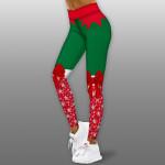 Дамски спортен клин - стягащ и повдигащ ефект CHRISTMAS-RED