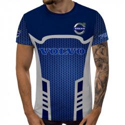 Мъжка спортна тениска 3D VOLVO blue