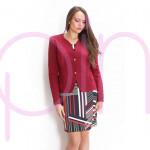 Дамско сако в цвят бордо
