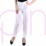 Сет от елегантна дамска туника ''Зебра'' и панталон в бяло