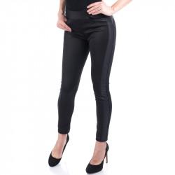 Спортно елегантен дамски панталон с кожа ''Blacky''