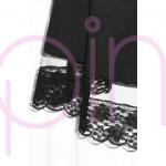 Черна разкроена пола с висока талия