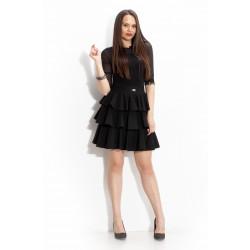 Дамска пола с волани и висока талия