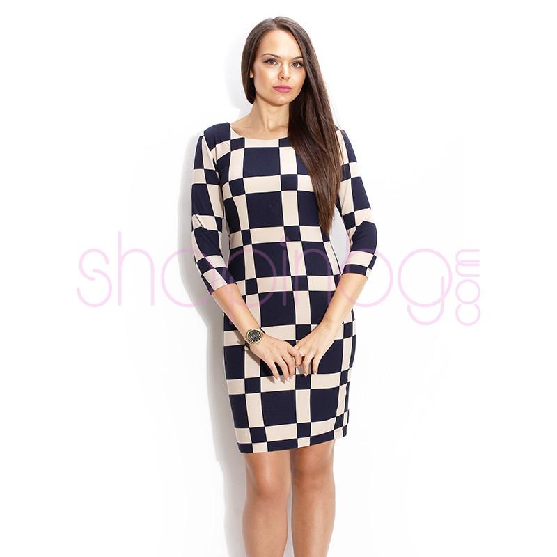 d1aa441b8d6 Права рокля с 7/8 ръкав