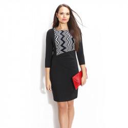 Елегантна черна рокля с ръкав
