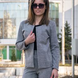 Карирано сако с дълъг ръкав