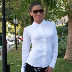 Елегантна бяла дамска риза