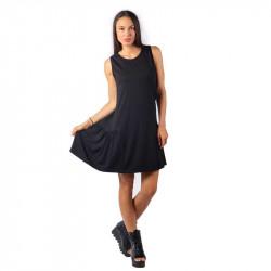 Удобна и практична дамска рокля с харбале в цвят черен