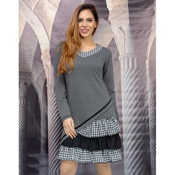 Free style дамска рокля в сиво