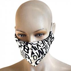 Трипластова кожена маска за лице с моден дизайн