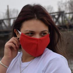 Трипластова едноцветна маска за лице с моден дизайн Redly