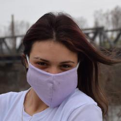 Трипластова едноцветна маска за лице с моден дизайн Violleta