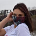 Трипластова маска за лице с моден дизайн Роуз