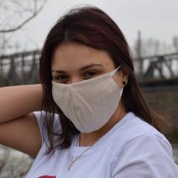 Трипластова едноцветна маска за лице с моден дизайн Nude
