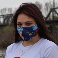 Трипластова маска за лице с моден дизайн Флора