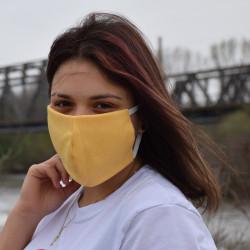 Трипластова едноцветна маска за лице с моден дизайн Банан