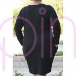 Дамска рокля в черно - Maxi модел