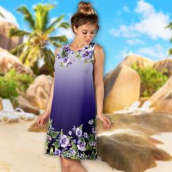 Лятна дамска рокля с 3D принт 8328