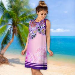 Лятна дамска рокля с 3D принт 8333