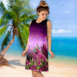 Лятна дамска рокля с 3D принт 8339