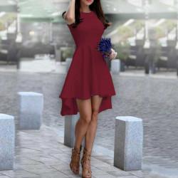 Дамска рокля Даяна в цвят бордо