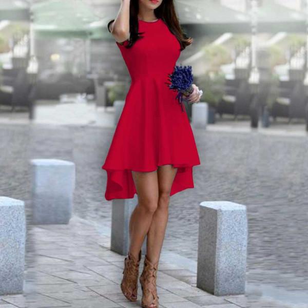 Дамска рокля Даяна в червен цвят