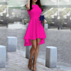 Дамска рокля Даяна в цвят циклама