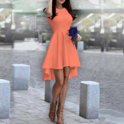 Дамска рокля Даяна в цвят праскова