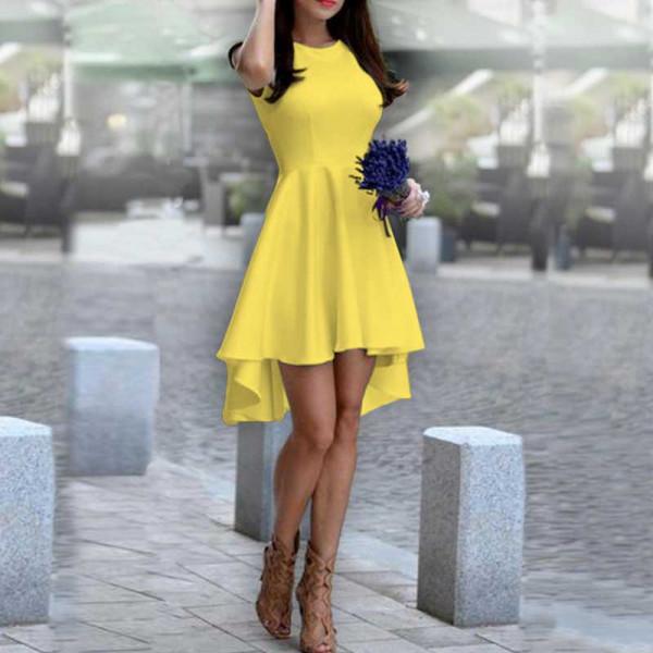 Дамска рокля Даяна в жълт цвят