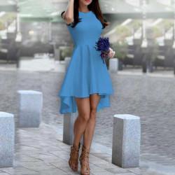 Дамска рокля Даяна в светло син цвят