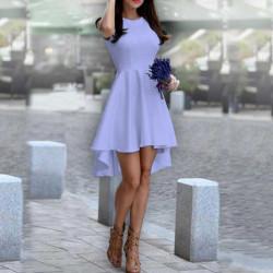 Дамска рокля Даяна в светло лилав цвят