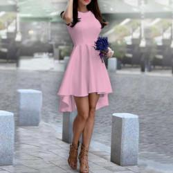 Дамска рокля Даяна в розов цвят