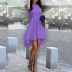 Дамска рокля Даяна в тъмно лилав цвят