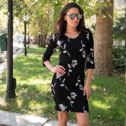 Стилна дамска рокля на цветя