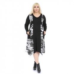 Асиметрична дамска рокля Лесли