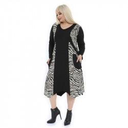 Асиметрична дамска рокля Зебра