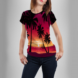 Дамска спортна тениска Sunset