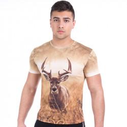Мъжка спортна тениска 3D ''Deer''